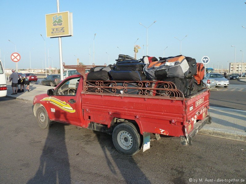 Ägyptischer Gepäcktransport